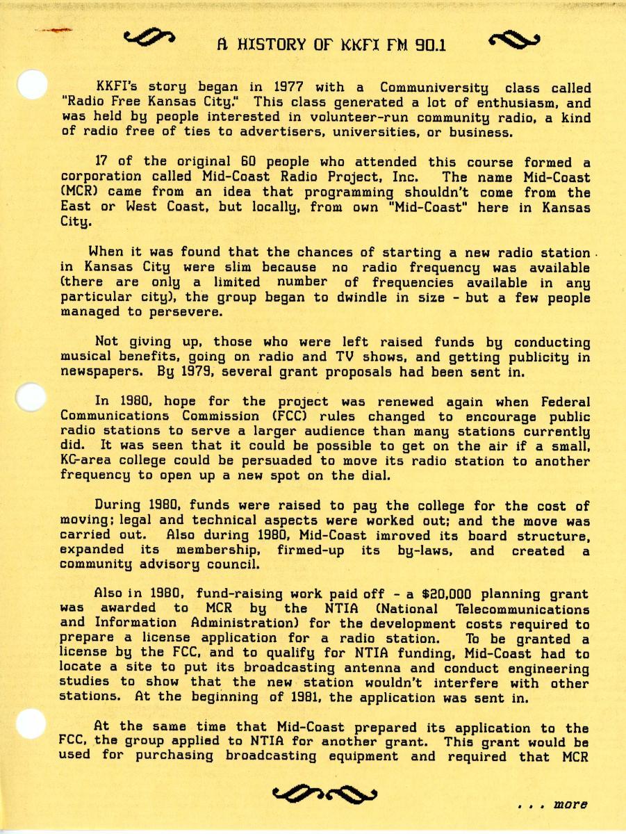 1987 History – KKFI Story