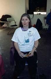 Barbara Blake, station founder at the first day celebration, 1988