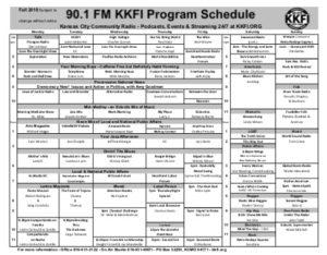 Fall 2018 Program Schedule thumbnail
