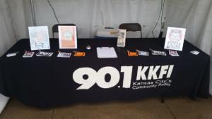 KKFI table at the KC Ethnic Festival, 2016