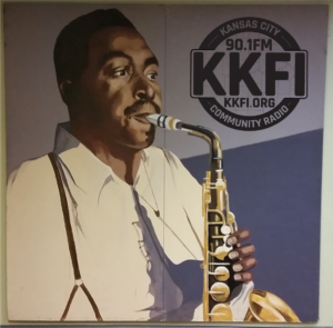 Charlie Parker on the wall at KKFI